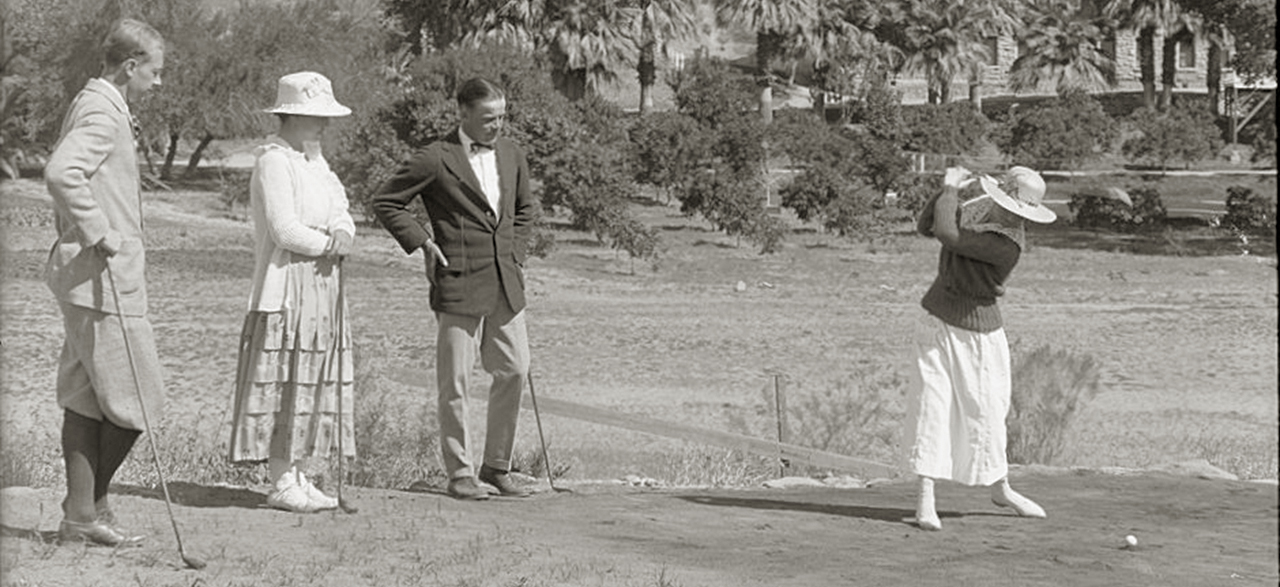 Golf c 1920s at Castle Hot Springs
